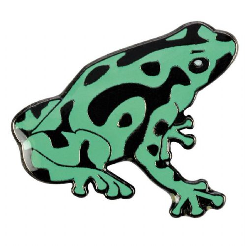 Blue Bug Pin Badge, Pois.Dart Frog,green